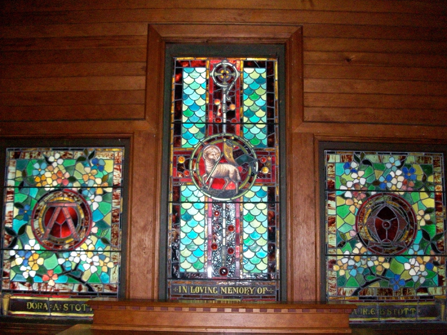 1883 Tiffany Stained Glass Windows