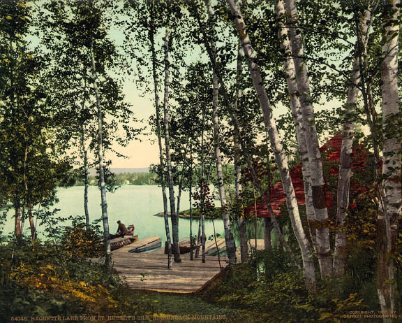Jackson Raquette Lake from St. Hubert's Isle 1902