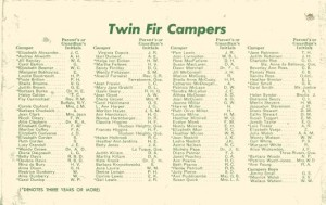 List of Campers
